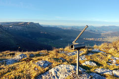 Cairn at the top of mountain in Sierra Salvada, Basque Country Royalty Free Stock Photography