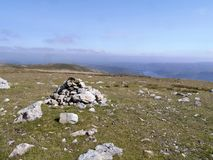 Cairn on White Stones area, Lake District Royalty Free Stock Photography