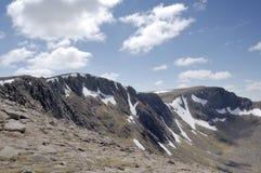 Cairngorm ridge of Cairn Lochan. Ridge from Cairngorm to Cairn Lochan in the Cairngorm National Park, Scotland stock images