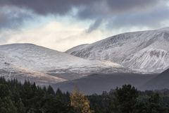Cairngorms and Lairig ghru in the Highlands of Scotland. Cairngorm and Lairig ghru in the Cairngorms National Park of Scotland Royalty Free Stock Images
