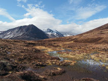 Cairngorms mountains, south of Carn a Mhaim, Scotland in spring Royalty Free Stock Images