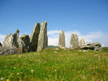 Cairnholy Cairns, Dumfries and Galloway, Scotland. The prehistoric site of Cairnholy contains two Neolithic chambered tombs with the remains of standing stones Royalty Free Stock Image
