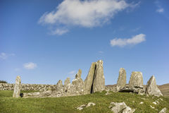 Cairnholy Chambered Cairns in Scotland. Royalty Free Stock Photography