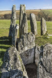 Cairnholy Chambered Cairns in Scotland. Stock Images