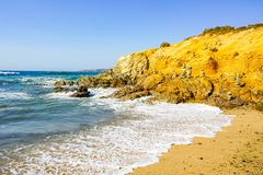 Cairns on Alentejo area seashore in Portugal Royalty Free Stock Photos