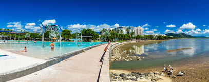 CAIRNS, AUSTRALIA - 27 MARCH 2016. The Esplanade in Cairns with Stock Image
