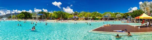 CAIRNS, AUSTRALIA - 27 MARCH 2016. Swimming lagoon on the Esplan Royalty Free Stock Photos