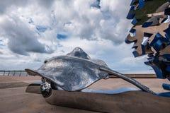 Cairns Esplanade Art Piece. Depicting a manta ray Royalty Free Stock Photos