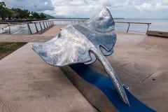 Cairns Esplanade Art Piece. Depicting a manta ray Royalty Free Stock Photo