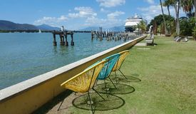 Cairns esplanade in Australia a tropical day Royalty Free Stock Images
