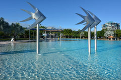 Cairns Esplanade Swimming Lagoon in Queensland Australia Stock Photos