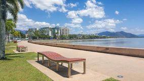 Cairns esplanade Queensland Australia. Cairns esplanade a tourist town in Queensland Australia royalty free stock photography