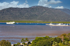 Cairns habour and boats Royalty Free Stock Photography