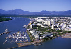 Cairns North Queensland. Aerial view of Cairns North Queensland. australia stock photos