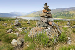 Cairns Overlooking Loch Highlands Of Scotland Stock Image