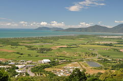 Cairns panorama. Panorama of Cairns from the hill. Queensland. Australia stock photo