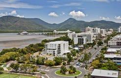 Cairns QLD de vue aérienne photos stock