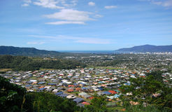 Cairns suburb view from hill. Cairns suburb view from the hill, Australia Stock Photos