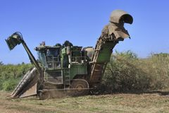 Cairns view of  cane harvester Stock Photography