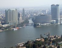 Cairo aerial view Stock Images
