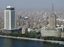 Cairo aerial view with Nile Royalty Free Stock Image