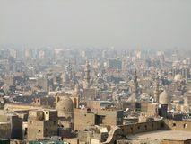 Cairo aerial view with smog Royalty Free Stock Images
