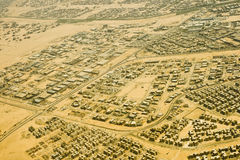Cairo from air. Bird view of Cairo periphery district Royalty Free Stock Photography