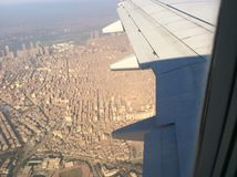 Cairo from airplane Royalty Free Stock Photography