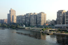 Cairo from bridge across Nile river Stock Photography