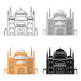 Cairo Citadel icon in cartoon style isolated on white background. Ancient Egypt symbol stock vector illustration. Stock Images