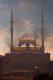 Cairo Citadel Minarets Sunset Stock Images