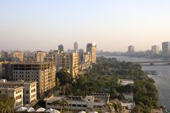 Cairo City. View from Cairo, by the Nile Royalty Free Stock Photos