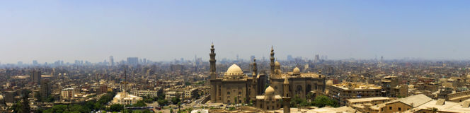 Cairo city and a big mosque Stock Photography