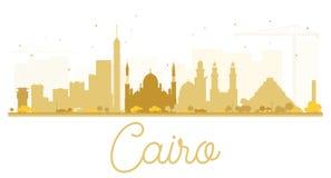 Cairo City skyline golden silhouette. Stock Photos