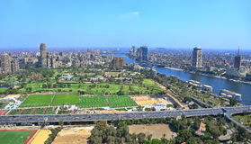 Cairo City. View of north of Cairo and river Nile  off the Cairo tower Stock Photography