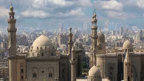 Cairo. Clouds. Egypt. Mosque-Madrassa of Sultan Hassan. Cairo. Egypt stock video footage