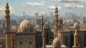 Cairo. Clouds. Egypt. Timelapse. Mosque-Madrassa of Sultan Hassan stock video footage
