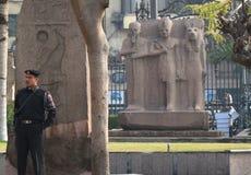 Cairo/Egipt Styczeń 01 2008: Kwadrat blisko Kair muzeum narodowego Obraz Stock