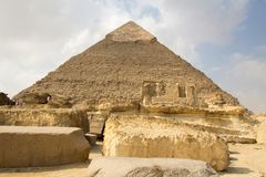 Pyramid of Khufu. Cairo, Egypt – November 12, 2018: photo for Pyramid of Khufu in the Pyramids of Giza in Cairo city capital of Egypt.And some royalty free stock photos