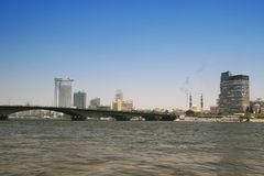 Cairo, Egypt. Egypt, Cairo cityscape and river Nile royalty free stock photo