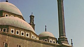 Archival Mosque of Muhammad Ali cloister stock video