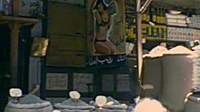 Khan Al-Khalili Bazaar stock video footage