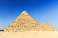 Cairo, Egypt. General view of pyramids from the Giza Plateau. Cairo, Egypt Royalty Free Stock Photo