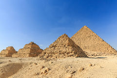 Cairo, Egypt. General view of pyramids from the Giza Plateau. Cairo, Egypt Stock Images