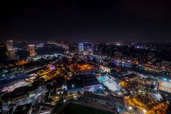 18/11/2018 Cairo, Egypt, incredible skyscraper view of a night city stock images