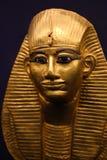 Gold mask of King Tutankhamen. Cairo, Egypt Jan. 2018 Ancient gold pieces of King Tutankhamen treasure Egyptian museum Stock Image