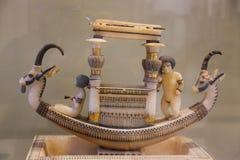 Tutankhamon treasure at Egyptian museum. Cairo, Egypt Jan. 2018 Ancient gold and silver pieces of Tut Ankh Amon treasure Egyptian museum Stock Photos