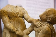 Greek - Roman period at ِCairo Museum Egypt. Cairo, Egypt Jan. 2018 The Museum of Egyptian Antiquities, known commonly as the Egyptian Museum or Museum of royalty free stock photos