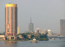 CAIRO, EGYPT - NOVEMBER 9, 2008: Cairo on the Nile. Water transp Royalty Free Stock Photos