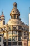 18/11/2018 Cairo, Egypt, overlooking a historic building in an abandoned state in a traditional English architectural style in the stock image